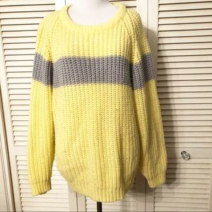 Vintage 80's One Step Up  Oversized Shaker Sweater